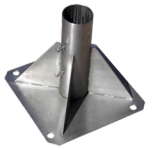 Square base made of stainless steel
